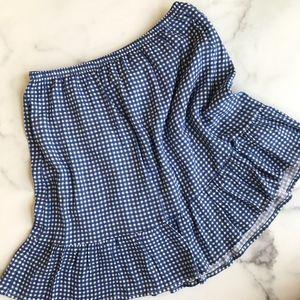 700856731654d NWT French Grey blue gingham mini skirt
